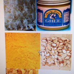 Regine's Potluck Signature Rice, Basmati Rice with Almonds and Raisins