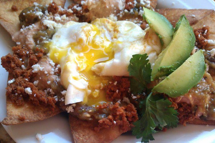 Breakfast Sunshine Platter (Chilaqueles with tomatillo sauce)