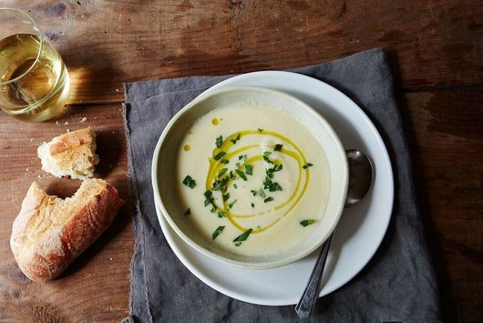 Celery Root and Apple Soup with Tarragon