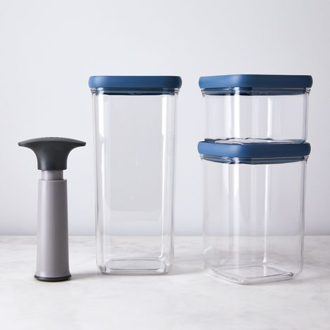 Storage Set with Vacuum Lids and Pump