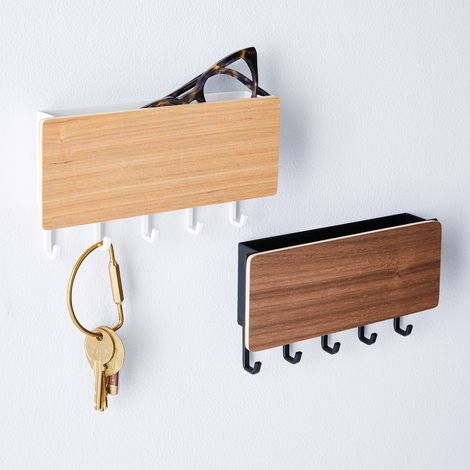 Magnetic Wood & Steel Key Storage Box