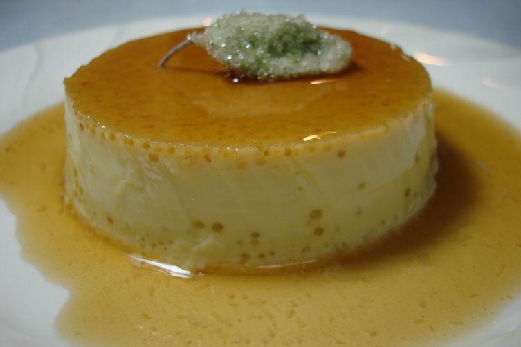 Sage-Infused Crème Caramel