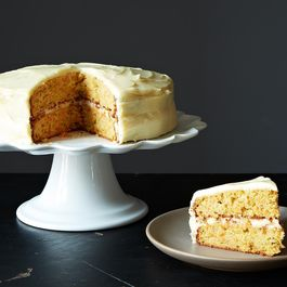 carrot cake with cardamon icing by Verna Penner