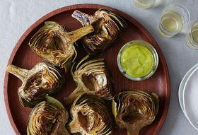 43bce983 45ef 4f8c 800b 4b1d3b02f803  grilled artichokes tarragon lemon aioli food52 mark weinberg 14 07 01 0358