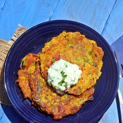 Zuchini and Mixed Vegetable Pancakes
