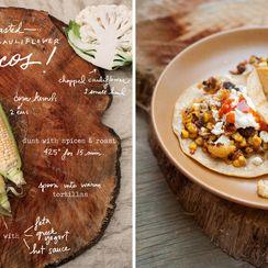 Corn and Cauliflower Tacos