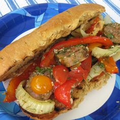 Red Pepper, Fennel and Sausage Grinder