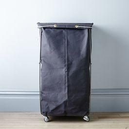 Grey Narrow Elevated Laundry Basket
