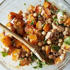 Moro's Warm Squash & Chickpea Salad with Tahini