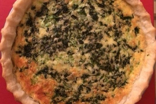 Spinach, Mushroom, and Jarlsberg Quiche