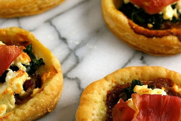 Spinach, Feta, and Bresaola Tartlets