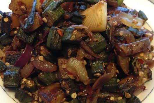 Spiced Okra Hash (No Slime!)