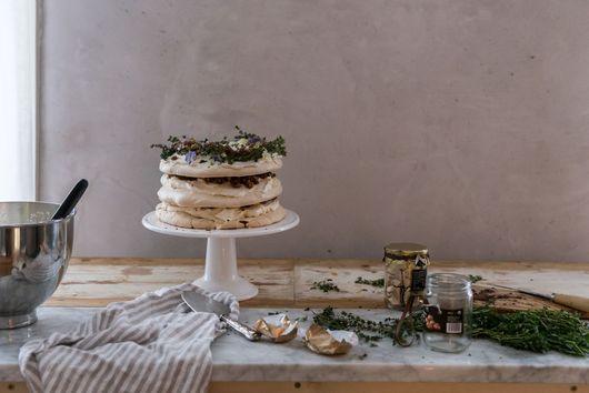 Meringue, Chocolate, and Sugared Chestnut Cake