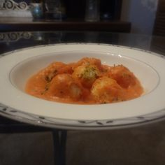 Potato Gnocchi with Tomato Cream Cheese Sauce