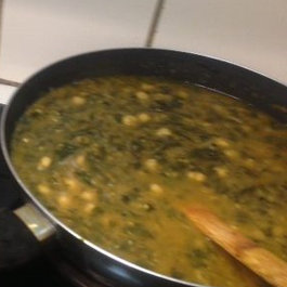 Spinach-Chickpeas Curry