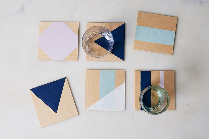 The Power of Painter's Tape, as Proven By These DIY Coasters