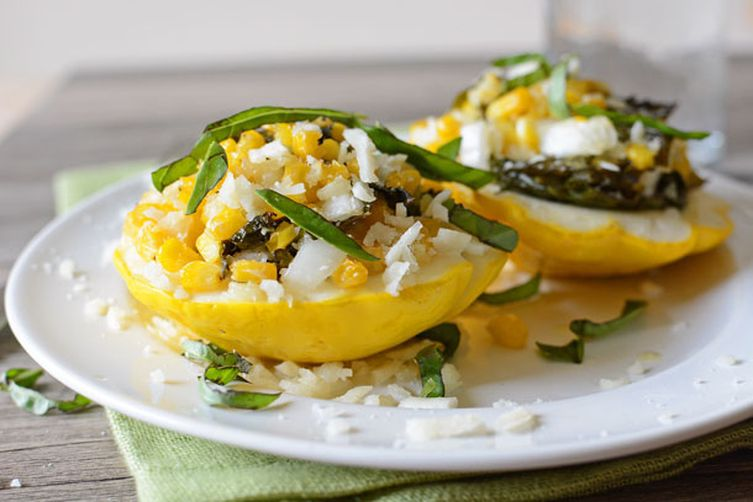 Stuffed Pattypan Squash