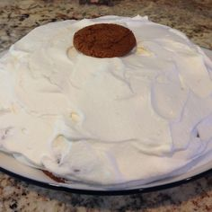 Gingersnap Icebox Cake for Abbie's birthday