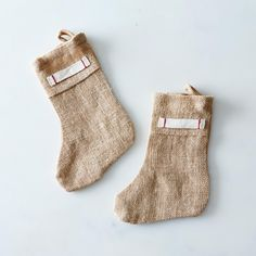 Burlap Mini Stocking (Set of 2)