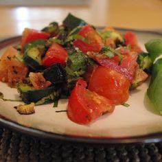 Tomato Zucchini Bacon Salad