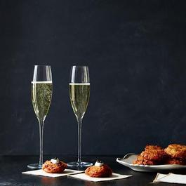 Handblown Champagne Flutes (Set of 2)