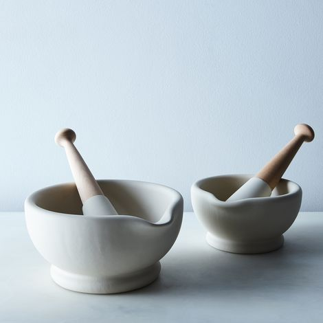 Vitrified Porcelain Mortar & Pestle