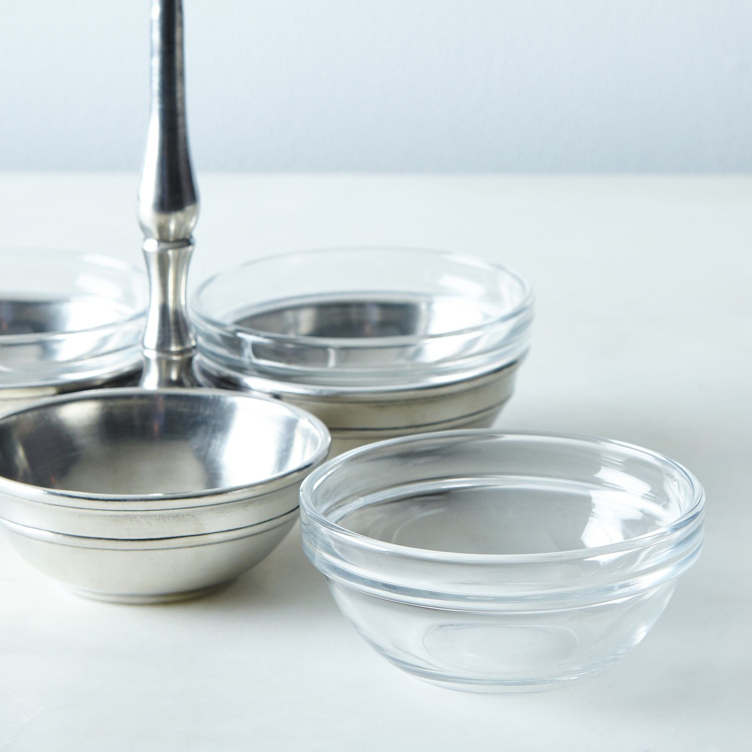 Pewter Amp Glass Condiment Trio Tray On Food52