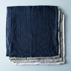 Vintage Linen Copper & Brass Zip Pillow Cover