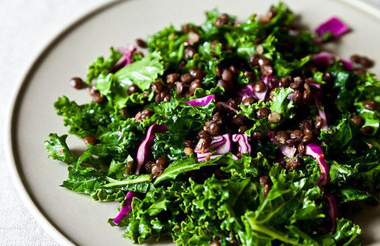 Dinner Tonight: Kale Salad + Sweet Potato Soup