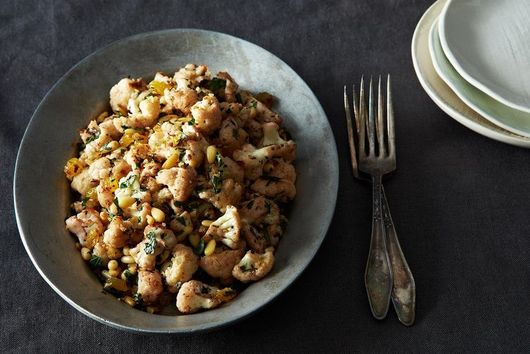 Fall Orzo Salad + Pan-Roasted Cauliflower