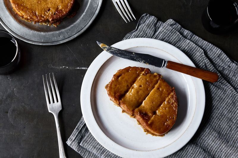 This cheesy toast definitely requires a knife and fork.