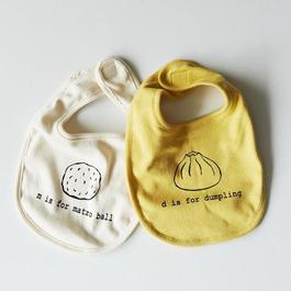 Organic Alphabet Baby Bib