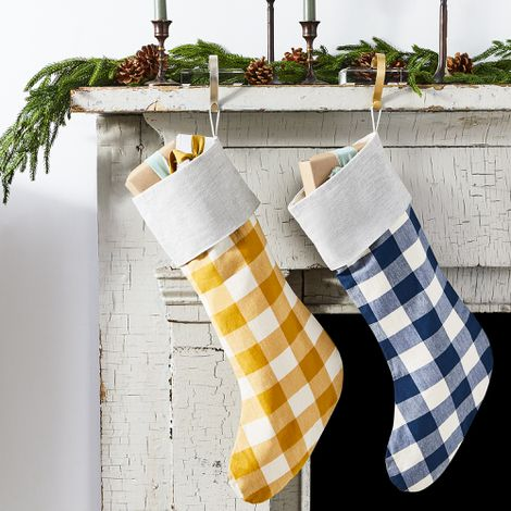 Handmade Cotton Gingham Stocking