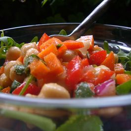 Garbanzo Bean and Baby Arugula Salad with Cumin Vinaigrette