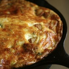Potato, Tomato, and Smoked Mozzarella Frittata