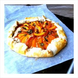 Peach - Basil - Goat Cheese Galette