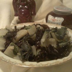 Bok Choy w/Black Tree-Ear Mushrooms