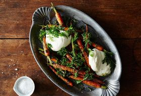 4e755b98 a691 443f 8710 bc9bf2e56de2  2015 0504 carrot top pesto with carrots and burrata 005 jr 1
