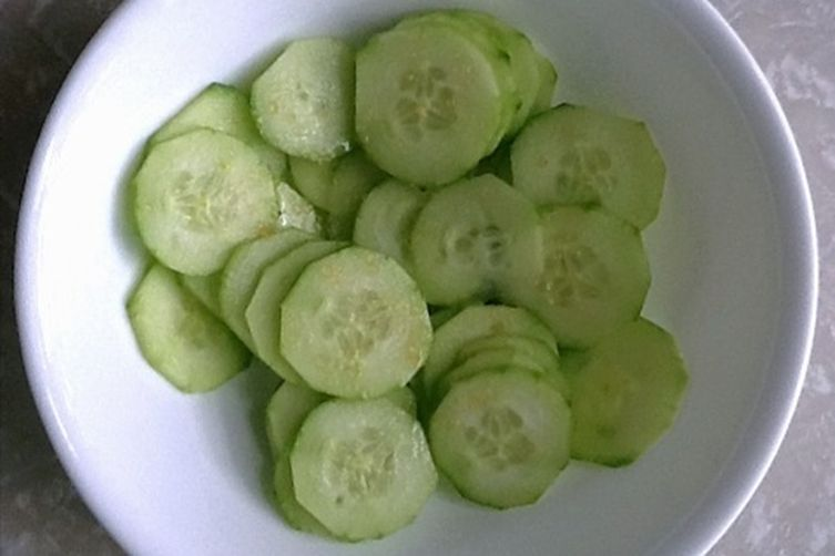 Gram's Fake Pickles (or Cucumber Salad)