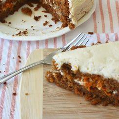 Carrot Cake w/Cream Cheese Frosting (Grain/Refined Sugar Free)