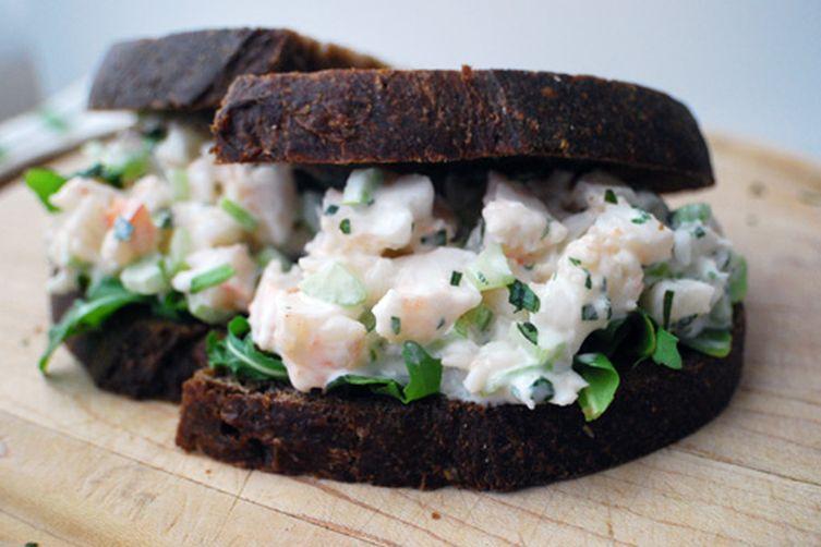 Creamy Tarragon Shrimp Salad Sandwiches