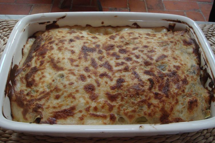 Patate Gratinate al Stracchino e Gorgonzola - Potato Gratin with Stracchino and Gorgonzola cheese