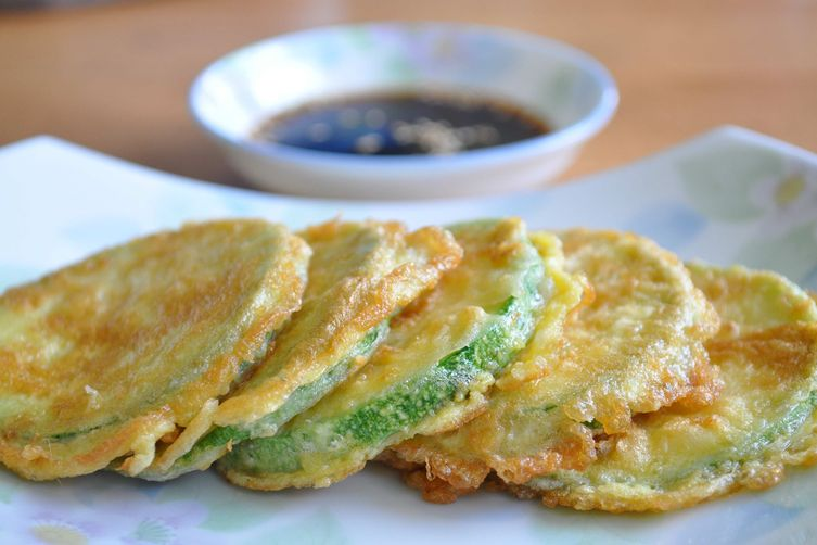 Summer Squash Jeon or Pan-fried squash fritters