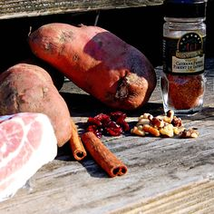 Roasted Sweet Potato Stuffing with Bacon, Pecans and Cranberries