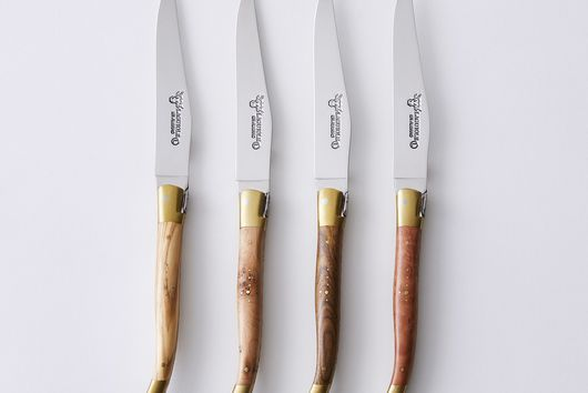 Laguiole en Aubrac Mixed Wood Steak Knives (Set of 4)