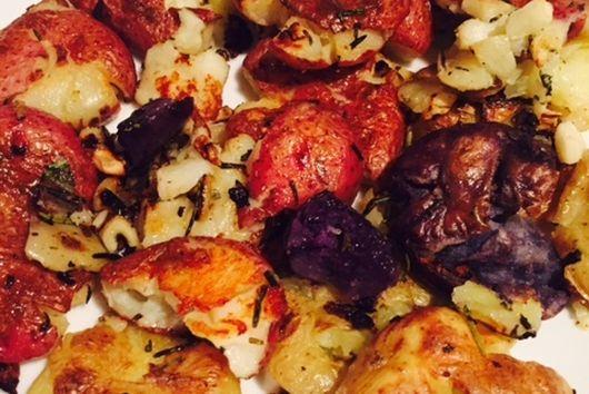Rosemary and Garlic Smashed Potatoes