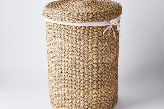Handwoven Laundry Basket with Lid