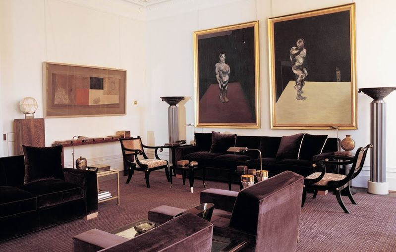 Valentino's above living room boasts two Francis Bacon paintings that are totally splurge-worthy—for Valentino. Or maybe Bill Gates.