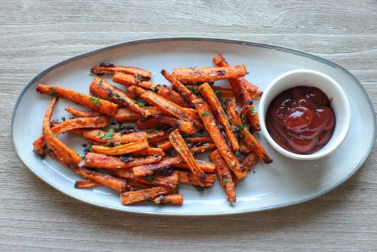 Crunchy Baked Carrot Fries