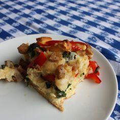 Egg, Sausage and Veggie Strata